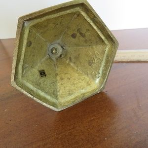 India Accents - Tall Vintage Brass Candle Stick Holder with Patina
